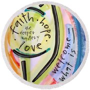 Welcome What Is Round Beach Towel