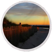 Welcoming The Day Round Beach Towel