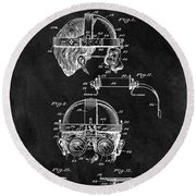 Welding Goggles Patent Round Beach Towel