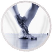 Well Loved Ballet Slippers Round Beach Towel