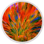 Well Of Colors Round Beach Towel