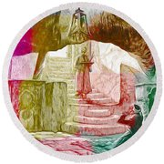 Well Of Souls Round Beach Towel