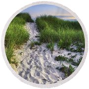 Wellfleet Beach Path Round Beach Towel
