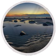Wells Beach Solitude Round Beach Towel