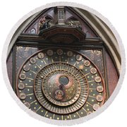 Wells Cathedral Astronomical Clock Round Beach Towel