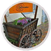 Weltladen Cart Round Beach Towel