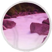 Wenatchee River  Round Beach Towel