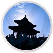 Wenchang Pavillion Round Beach Towel