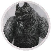 Werewolf Round Beach Towel