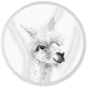 Wes Round Beach Towel