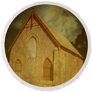 Wesley Church, Greenough, Western Australia Round Beach Towel
