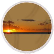 West From Frigate Bay Round Beach Towel
