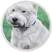 West Highland Terrier Round Beach Towel