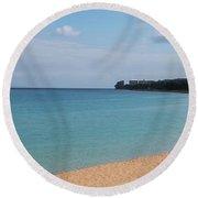 West Maui Bay Round Beach Towel