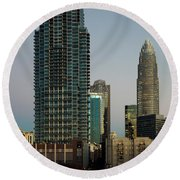 West Trade Street Downtown Charlotte North Carolina Round Beach Towel