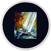 West Wind Round Beach Towel