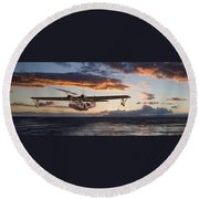 Westering Home Round Beach Towel