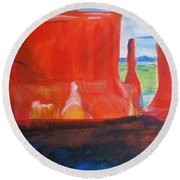 Western Canyon Round Beach Towel