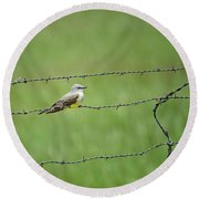 Western Kingbird Round Beach Towel