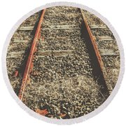 Western Railway Of Routes Forgotten Round Beach Towel