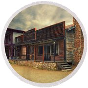 Western Town - Paramount Ranch Round Beach Towel