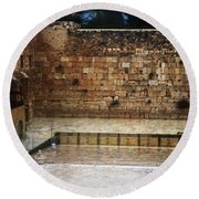 Empty Western Wall Round Beach Towel
