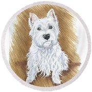 Westie Round Beach Towel
