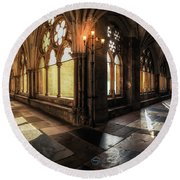 Westminster Abbey Round Beach Towel