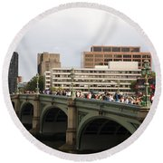 Westminster Bridge.  Round Beach Towel