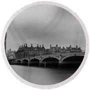 Westminster Bridge London Round Beach Towel