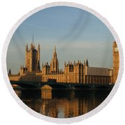 Westminster Morning Round Beach Towel