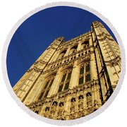 Westminster Palace, London Round Beach Towel
