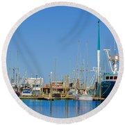 Westport Docks Color Round Beach Towel