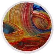 Wet Paint - Run Colors Round Beach Towel