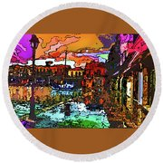 Wet Reflections Round Beach Towel