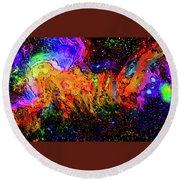 Whacked Out Quadrant Round Beach Towel