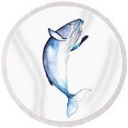 Whale 2 Round Beach Towel