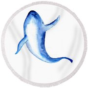 Whale 3 Round Beach Towel
