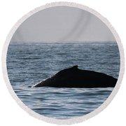 Whale Fin Round Beach Towel