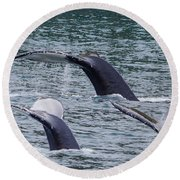 Whale Of Tales Round Beach Towel