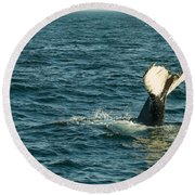 Whale Round Beach Towel