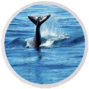 Whale Tail Round Beach Towel