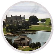 Whalehead Club And Boathouse Round Beach Towel
