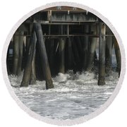 Wharf 2 Round Beach Towel