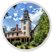 Wharton Mansion Round Beach Towel