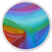 What A Colorful World Round Beach Towel