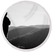People Series - What A View Round Beach Towel