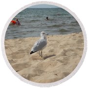 What Are You Looking At? Round Beach Towel