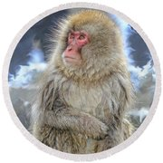 What Did You Just Say? Round Beach Towel