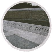 What Does Freedom Cost? Round Beach Towel